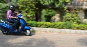 Honda Activa 3G motion shot