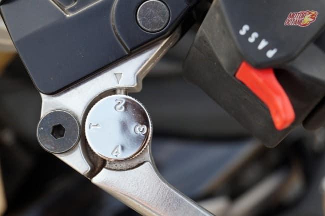 Triumph Street Triple clutch lever