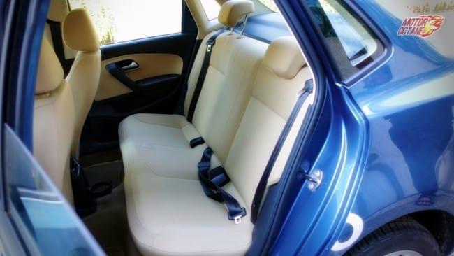 Volkswagen Ameo rear seat space