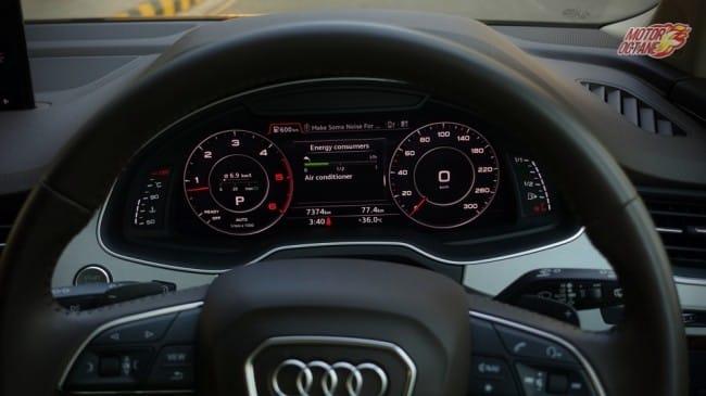 Audi Q7 instrument cluster
