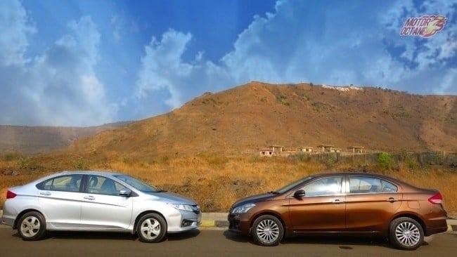 Maruti Ciaz SHVS vs Honda City detailed comparison