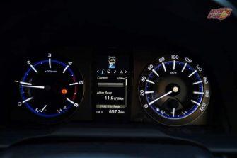 Toyota Innova Crysta instrument cluster