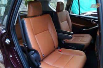 Toyota Innova Crysta second row seats