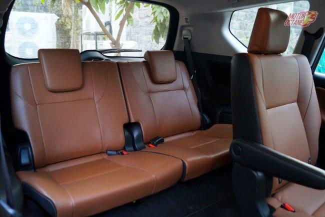 Toyota Innova Crysta third row seats