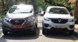 Datsun Redigo vs Renault Kwid front view image