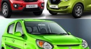 Datsun Redigo vs Renault Kwid vs Maruti Alto 800
