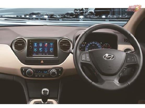 Hyundai XCent Anniversary Special Edition interior
