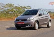 2018 Tata Tiago motion shot