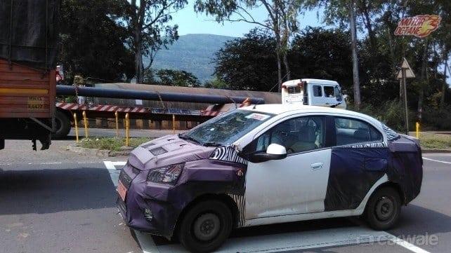 Chevrolet Essentia spy shot