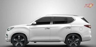 Mahindra XUV 700 SUV side profile
