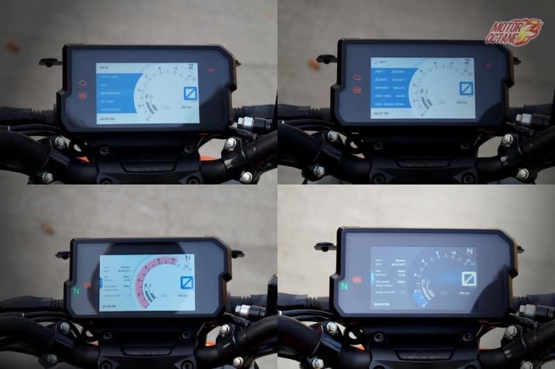 KTM Duke 390 TFT Screen
