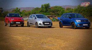 Maruti Ignis vs Hyundai Grand i10 vs Mahindra KUV100