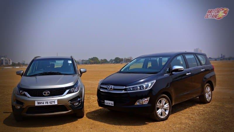 Tata Hexa vs Toyota Innova Crysta