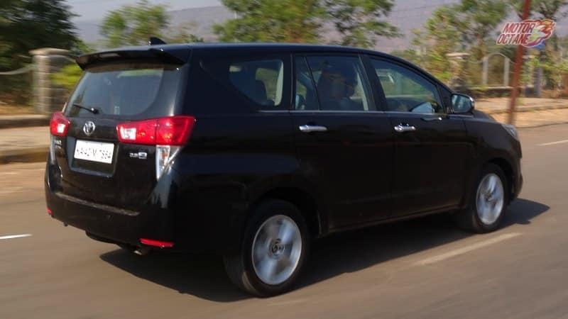 Toyota Innova Crysta rear motion
