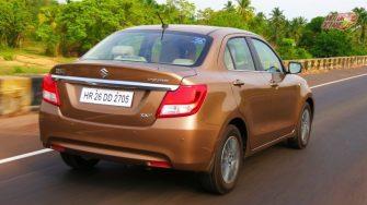 New Maruti DZire 2017 rear motion