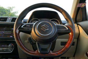 New Maruti DZire 2017 steering wheel