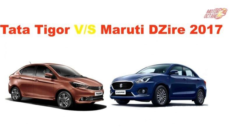 Tata Tigor vs Maruti DZire 2017