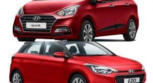 2017 Hyundai Xcent vs 2017 Hyundai Elite i20