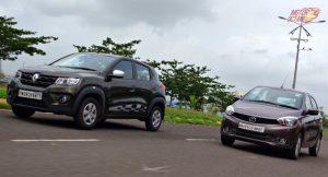 Renault Kwid vs Tata Tiago motion