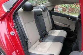 Hyundai Verna 2017 new rear seat