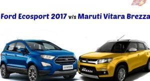 Maruti Vitara Brezza vs Ford Ecosport 2017