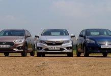 2017 Hyundai Verna vs Honda City vs Maruti Ciaz front