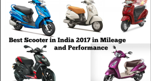 Best scooter in India in 2017 for mileage and performance