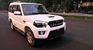 2018 Mahindra Scorpio facelift front motion