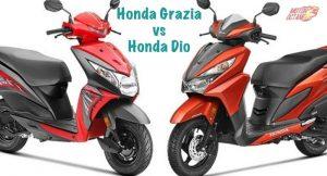 Honda Grazia vs Honda Dio