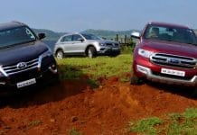 Volkswagen Tiguan vs Ford Endeavour vs Toyota Fortuner off road