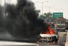 Tata Zest catches fire