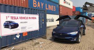 Tesla Model X India Mumbai POrt