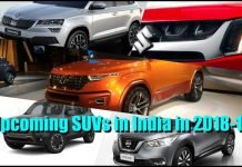 Upcoming SUVs in India in 2018 and 2019