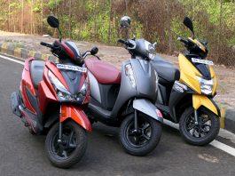 TVS Ntorq vs Honda Grazia vs Suzuki Access 1