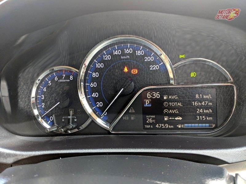 Toyota Yaris instrument