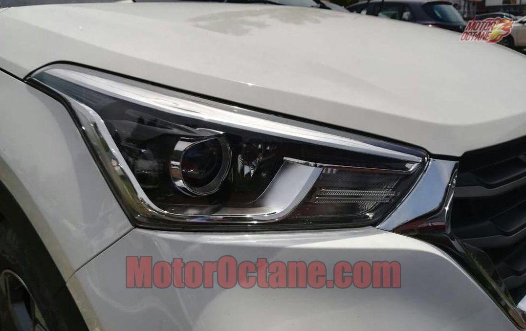 2018 Hyundai Creta spy shot headlamp