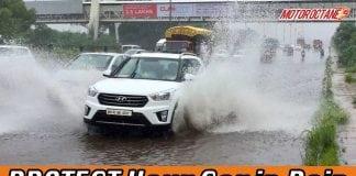 Protect car in rain