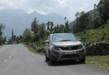 Tata Hexa Front Roadside