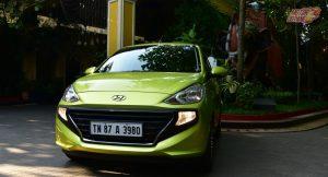 Hyundai Santro 2018 Green front
