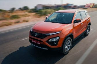 Tata Harrier Front left driving shot