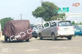 New generation Mahindra Thar Spy shots rear
