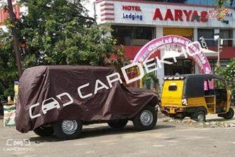 New generation Mahindra Thar Spy shots side