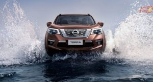 Nissan Terra water crossing