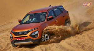 Tata Harrier kicking dust