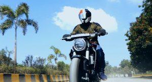 Honda CB300R front riding