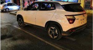 Hyundai creta 2020 white rear side