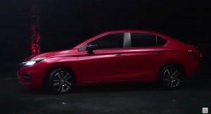 Honda City 2020 side red