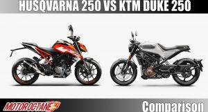 Husqvarna 250 vs KTM Duke 250