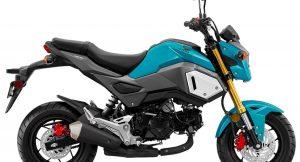 Honda Grom blue side