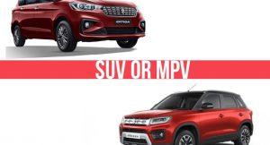 MPV or SUV
